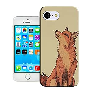 BY SHICASE Lonely Fox Painting Picture Of New Style Tpu Cases For Iphone 5C