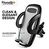 PhoneBro Car air-vent cell-phone Mount Holder cradle stand with silicone padding universal smartphone compatible foriPhone X 8 8 Plus 7 7 Plus SE 6s 6 Plus 6 5s 5 4s 4 Samsung Galaxy S6 S5 S4 LG Nexus