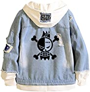 Gumstyle Anime One Piece Luffy Denim Trucker Jacket Adult Hoodie Jeans Coat