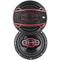 Dual Electronics DLS654 4-Way 6 ½ inch Car Speakers with 160 Watt Power & 35mm Mylar Balanced Dome Midrange