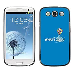 PC/Aluminum Funda Carcasa protectora para Samsung Galaxy S3 I9300 Quote Up Text Cartoon Balloon / JUSTGO PHONE PROTECTOR