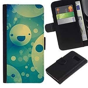 NEECELL GIFT forCITY // Billetera de cuero Caso Cubierta de protección Carcasa / Leather Wallet Case for Sony Xperia Z3 Compact // Feliz patrón de la cara