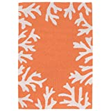 Liora Manne Monaco Shell Border Rug, Indoor/Outdoor, 24″ by 36″, Coral Review