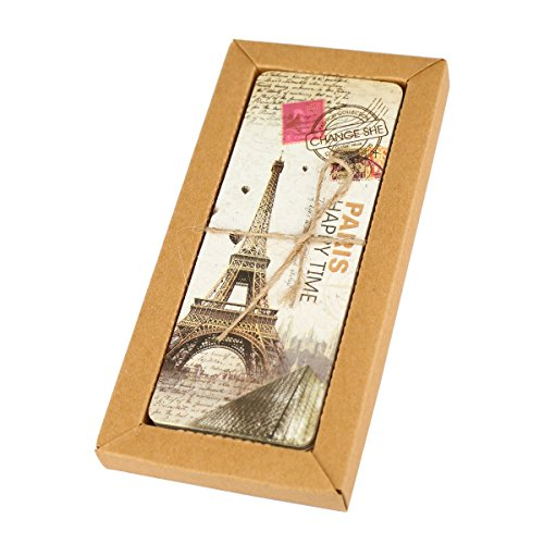 Twone European Travel Postcard Bookmark Set With 30 Bookmarks Featuring Vintage Scenes - With Eiffel Tower, Paris, Rome, London & More