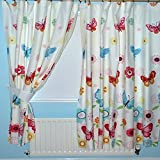Butterfly Lined Curtains 66' x 72'