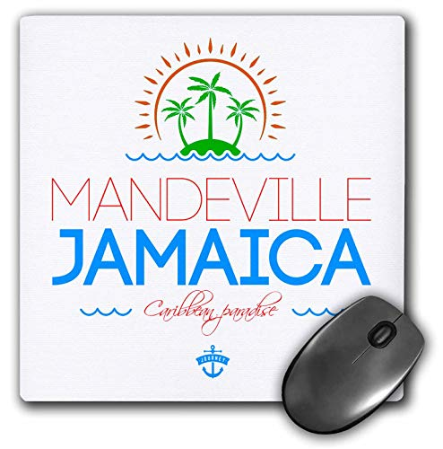 3dRose Alexis Design - Cities Jamaica - Mandeville, Jamaica City. Summer Journey and Fun - Mousepad (mp_313230_1) -