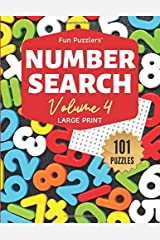 "Fun Puzzlers Number Search: 101 Puzzles Volume 4: 8.5"" x 11"" Large Print (Fun Puzzlers Large Print Number Search Books) Paperback"