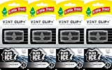 Little Trees Vent Clip+ Air Freshener, Black Ice, Pack of 4