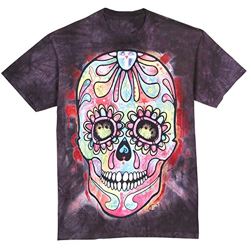 The Mountain Cotton Day Of The Dead Design Novelty Adult T-Shirt (Black, XXL)