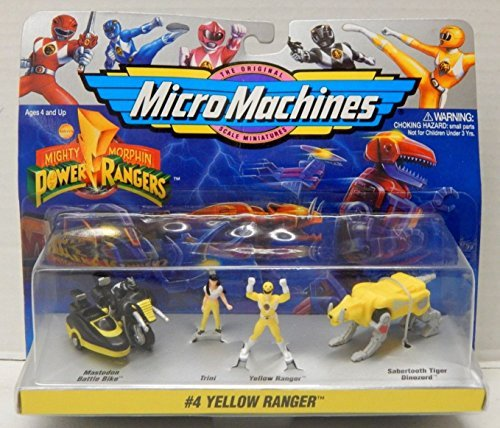 Mighty Morphin Power Rangers Yellow Ranger Micro Machines...