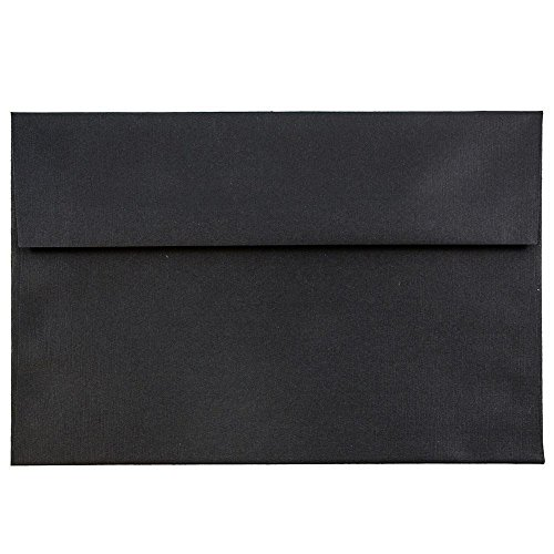 (JAM PAPER A7 Square Invitation Envelopes - 5 1/4 x 7 1/4 - Black Linen - 25/Pack)