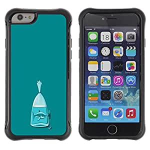 "All-Round Hybrid Rubber Case Hard Cover Protective Accessory Compatible with Apple iPhone 6PLUS ¡ê¡§5.5"") - shark teal fish meaning metaphor"