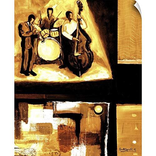 (CANVAS ON DEMAND Everett Spruill Wall Peel Wall Art Print Entitled Musical Trio I 10