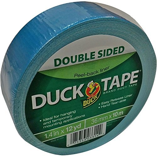 Duck Double-Sided Duct Tape - 36 Feet (1.41'' Width x 12 Yards) x 2 Rolls