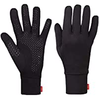 Aegend Lightweight Running Gloves Ski Snowboard Gloves Women Men Touch Screen Gloves Cycling Bike Sports Compression Liner Gloves Black for Winter Early Spring Or Fall,3 Size