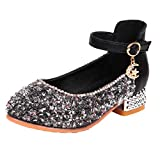 Tronet Crystal Princess Shoes for Girls Elegant Low Heel Ballet Shoes Single Ballet Flats Bling Ballroom Sandals Party