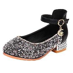 Girls New Korean Crystal Princess Shoes