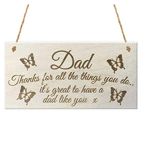 Plaques Signs - Dad Thanks Things You Do It 39 S Great To Have A Like Wooden Hanging Plaque Sign Love - Wood Luminaria Tree Frog Characters 3d Tin Chain ()