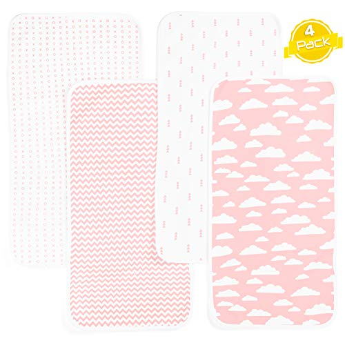 Changing Pad Liners, Waterproof Covers Made Extremely Large to Protect Change Table Pad | 4 Pack by BaeBae Goods