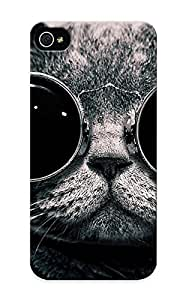 Pinkroses Faddish Phone Cats Animals Glasses Sunglasses Hippie Schrodingers Cat Monochrome Schrodinger Steam Punk Case For Iphone 5/5s / Perfect Case Cover