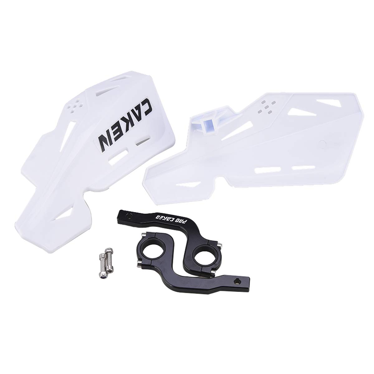 White PRO CAKEN CNC Handle Bar Hand Guards Protector Dirt Bike Motocross ATV for SX SXF EXC XCW