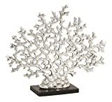 Deco 79 Aluminum Coral, 17 by 14-Inch