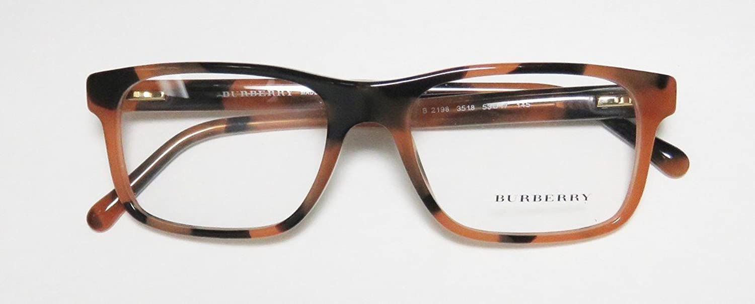 b659b2bc1151 Eyeglasses Burberry BE 2198 3518 SPOTTED AMBER at Amazon Men's Clothing  store:
