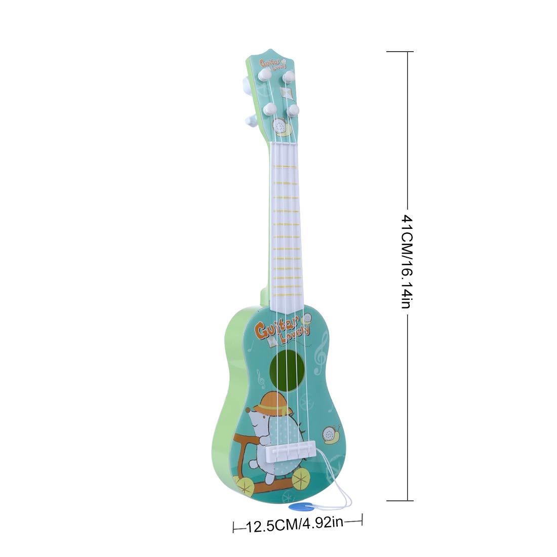 TETAKE Kindergitarre 16 Zoll 4 Saiten Gitarre Kinder Gitarre Spielzeug Gitarre Anf/änger Gitarre Baby mit Plektrum Musikinstrumente f/ür Kinder ab 1 Jahr
