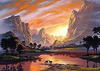 Schmidt Spiele Puzzle 59320 - Jon Rattenbury, Tal im goldenen Licht, 1000 Teile