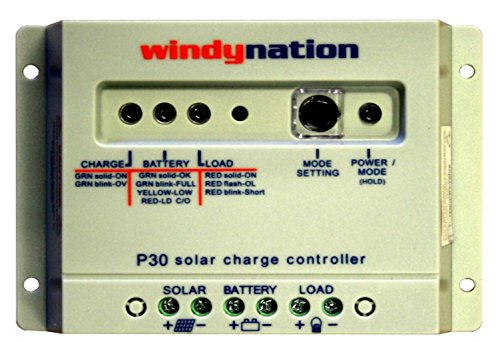 WindyNation P30 30A Solar Panel Regulator Charge Controller 12V 24V 390W 780W by WindyNation