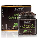 Arabica Coffee Body Scrub, 100% Natural Detoxifying Face Scrub & Exfoliating Body Scrub for Acne & Eczema Treatment, Exfoliate Moisturize, Stretch Mark Scar & Cellulite Remover review