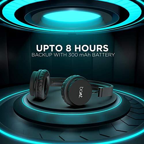 boAt Rockerz 400 Bluetooth On-Ear Headphone with Mic(Carbon Black)