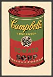 McGaw Graphics Campbell's Soup Can 1965 Framed Print by Andy Warhol, Green/Red