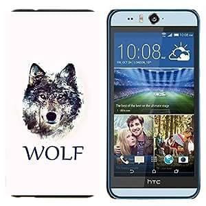 TECHCASE---Cubierta de la caja de protección para la piel dura ** HTC Desire Eye ( M910x ) ** --WOLF