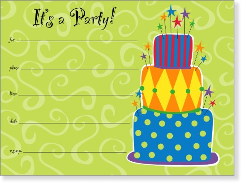 SanLori Designs Cut the Cake Invitations - 8 ct