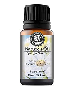 Country Apple Fragrance Oil (15ml) For Diffusers, Soap Making, Candles, Lotion, Home Scents, Linen Spray, Bath Bombs, Slime