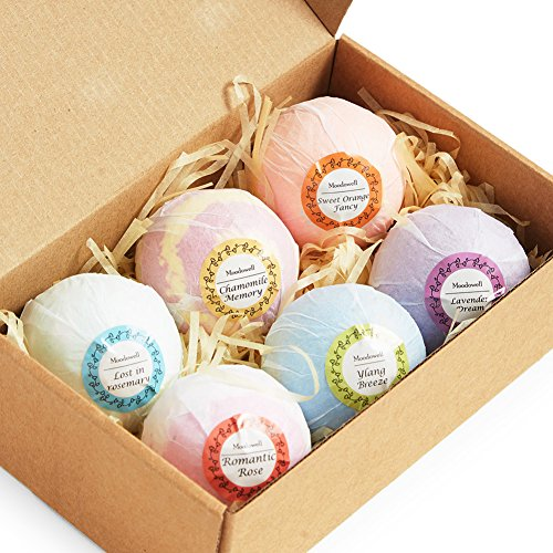 Bath Bombs for Women 6-pack, Organic Natural Essential Oil A