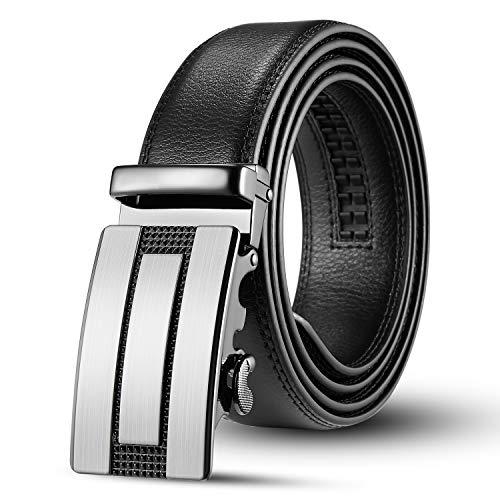Utop Belts,Mens Belt, Dress Belt and Automatic Slides Ratchet Genuine Leather Belts for Men, Adjustable Belt With Wide 1.38Inch (blackstyle326)