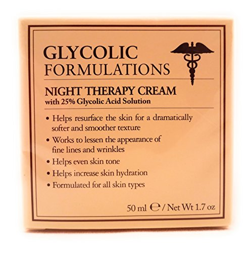Glycolic Therapy - Glycolic Formulations Night Therapy Cream with 25 Percent Glycolic Acid  50ml  1.7oz