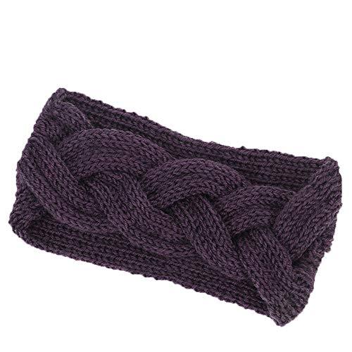 BUKEZH Women's Knitted Hairband Handmade Winter Keep Warm Hair Head Hoop Practical Headband -