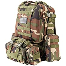 Z ZTDM 50L Backpack Outdoor Tactical Molle 3 Day Assault Pack Military Rucksacks,Bug Out Bag for School Traveling Camping Hiking Trekking,900D Waterproof Upgrade
