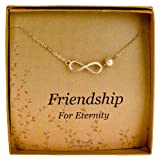 Sterling Silver Infinity Necklace - Cultured Pearl Bridesmaids / Friendship Jewelry Gift