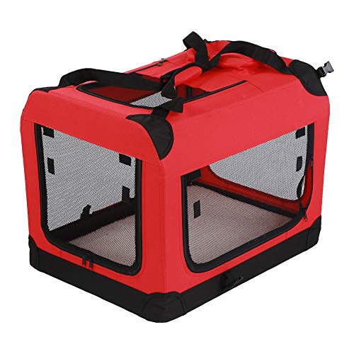 Cocoarm Dog Pet Crate,Pet Carrier,Pet Travel Tote Portable Bag Soft Sided Dog Carrier Home for Cats and Dogs (red)