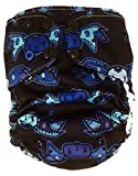 Pocket Cloth Diaper by Luke and Abby   One Size Reusable Baby Diaper - Limited Edition Moonlight Batkins Pocket Diaper