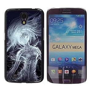 Be Good Phone Accessory // Dura Cáscara cubierta Protectora Caso Carcasa Funda de Protección para Samsung Galaxy Mega 6.3 I9200 SGH-i527 // Fairy Mystical Creature Lady Fairytale Art