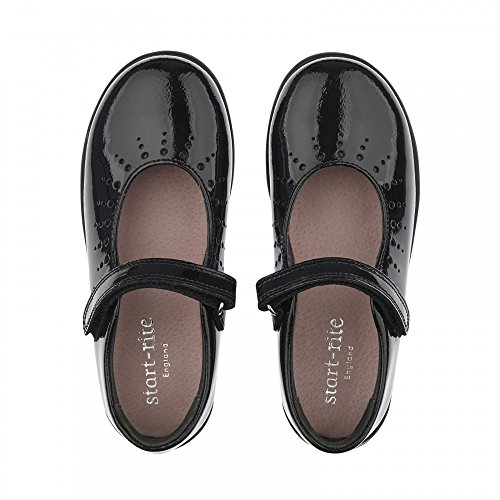 Start Rite Mary Jane Girls Leather School Shoes schwarzer lack