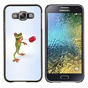 Queen Pattern - FOR Samsung Galaxy E5 E500 - Nature Beautiful Forrest Green 33 - Cubierta del caso de impacto con el patr???¡¯???€????€????&sup