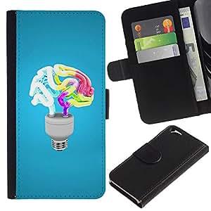 All Phone Most Case / Oferta Especial Cáscara Funda de cuero Monedero Cubierta de proteccion Caso / Wallet Case for Apple Iphone 6 // Funny Brain Light