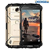 DOOGEE S60, 4G Rugged Phone Android 7.0 - 5580mAh Battery - Helio P25 Octa-core - 5.2'' FHD Screen - IP68 Waterproof Dustproof Shockproof - 6GB RAM + 64GB ROM - Unlocked Cell Phones - Gold