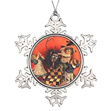 Withyouc Krampus Jack-In-A-Box Personalised Christmas Tree Decoration Vintage Snowflake Ornaments